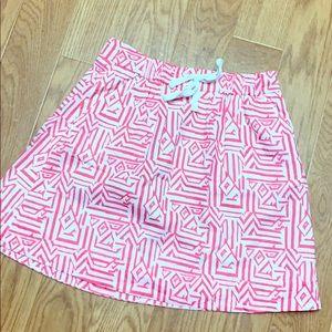 J.Crew drawstring linen skirt